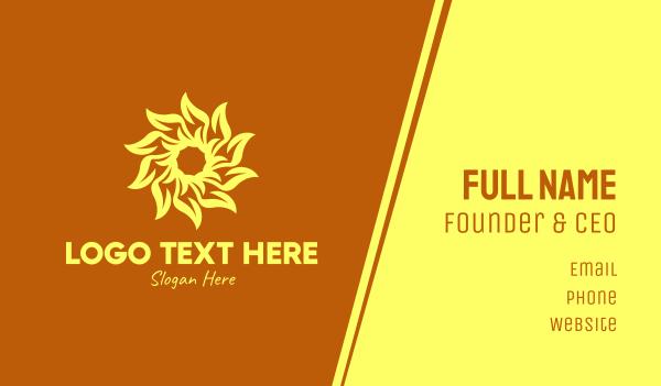 sunflower - Yellow Sunflower Energy Business card horizontal design