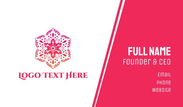 sauna - Pink Articulated Flower Business card horizontal design