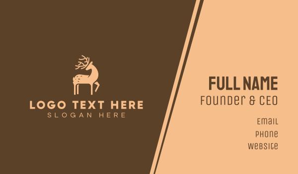 horns - Brown Deer Business card horizontal design