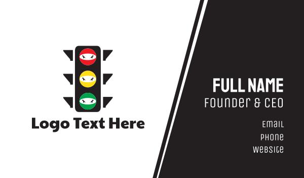traffic - Traffic Ninja Business card horizontal design