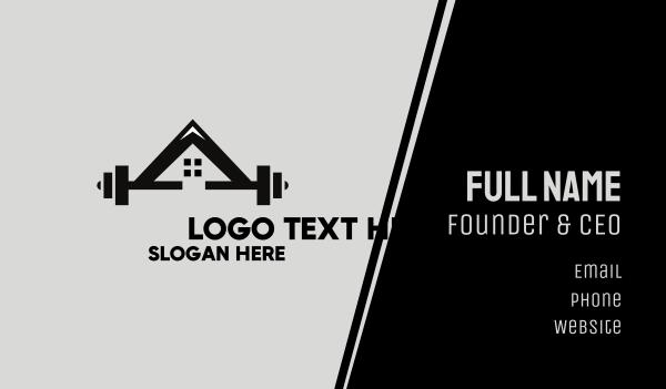 bodybuilder - Weights Gym House Business card horizontal design
