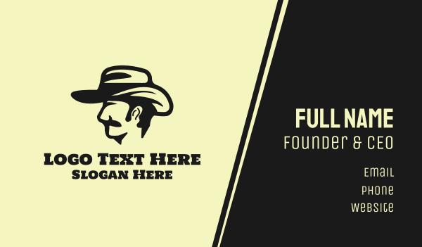 black hat - Cowboy Hat Business card horizontal design