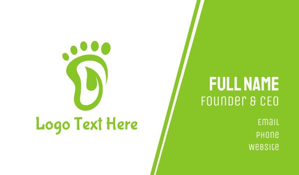 primitive - Leaf Foot Footprint Business card horizontal design