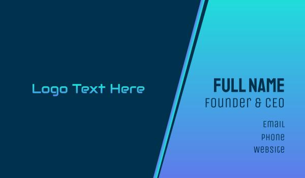 industries - Modern Tech Wordmark Business card horizontal design