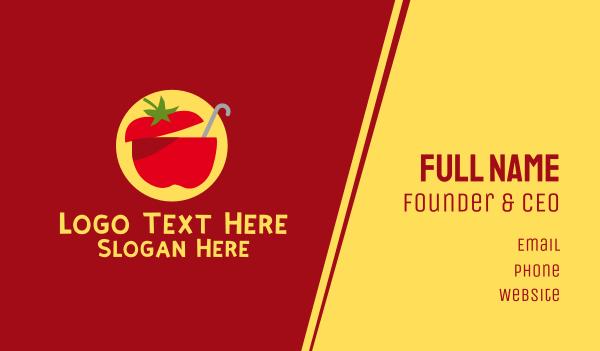 fruit shake - Tomato Soup Restaurant Business card horizontal design