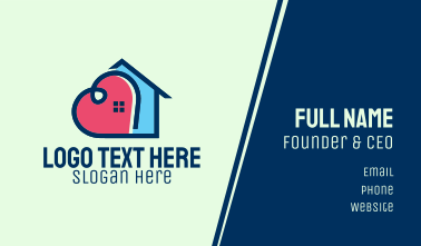 Heart House Home Business Card