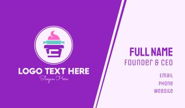 Multicolor Cupcake Shop Business Card