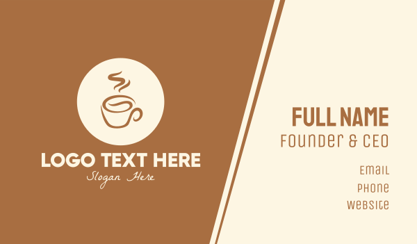coffee bean - Coffee Drink Business card horizontal design