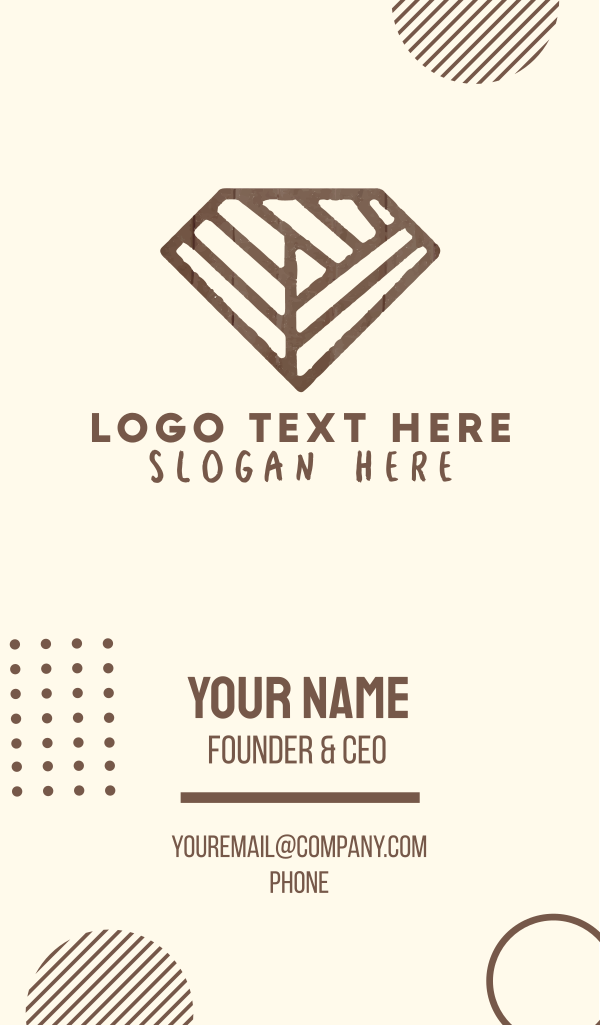 Brown Rustic Diamond Business Card
