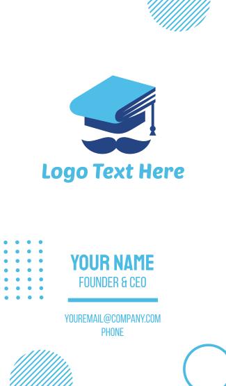 Education Graduation Hat Man Business Card
