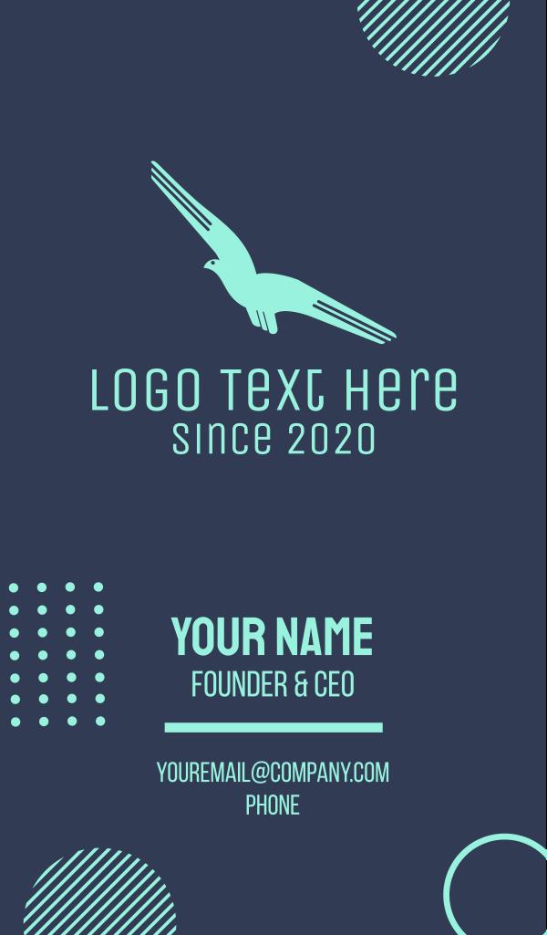 Blue Flying Bird Business Card