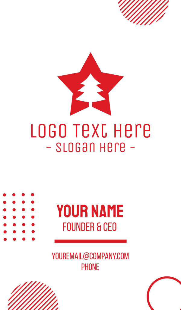Red Tree Star Business Card