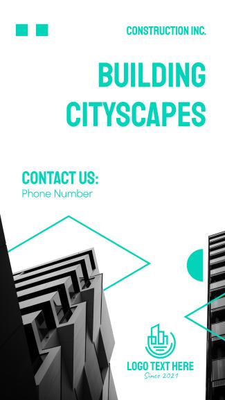 Cityscape Construction Facebook story