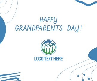Happy Grandparents' Day Abstract Facebook post
