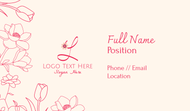Floral Ornaments Business Card
