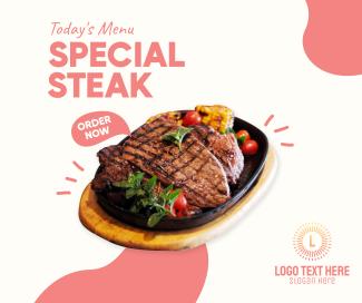 Todays Menu Steak Facebook post