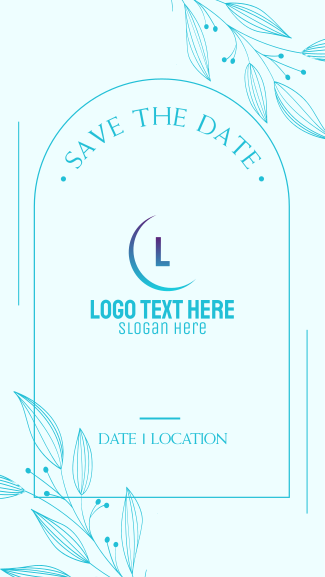 Save the Date Frame Facebook story