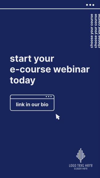 E-Course Webinar Facebook story