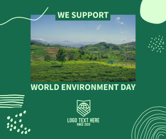 We Support World Environment Day Facebook post