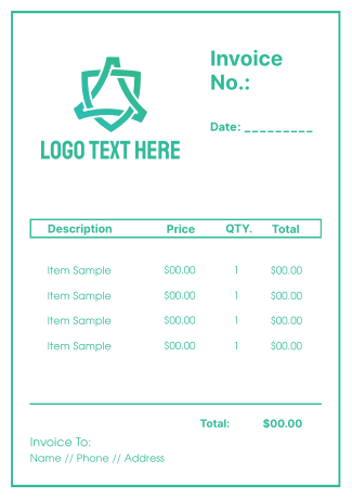 Simple Outlined Invoice