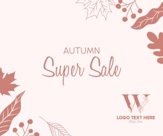 Autumn Super Sale Facebook post