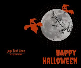 Happy Halloween Ghost Night Facebook post