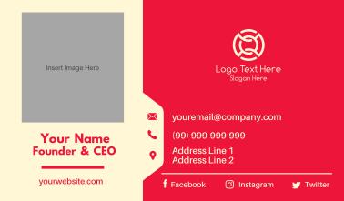 Folder Tab Business Card