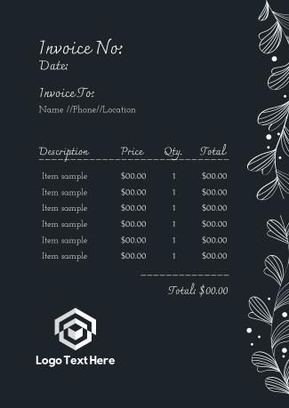 Floral Wreath Invoice