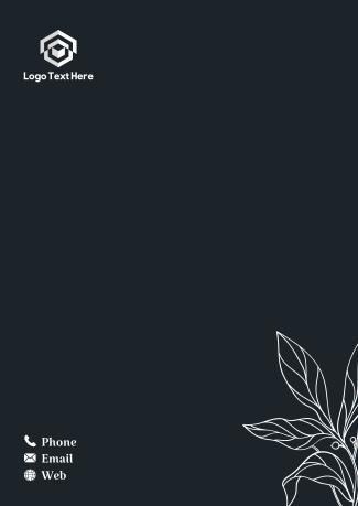 Floral Outline Letterhead