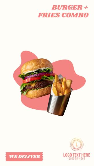 Burger Fries Facebook Story