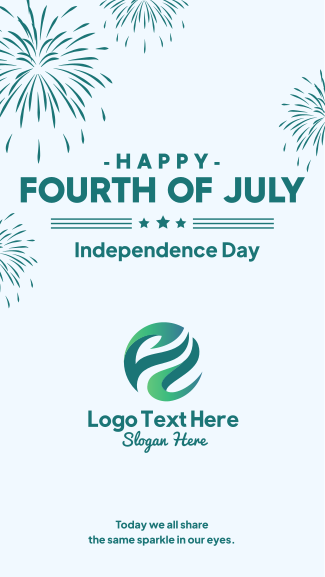 Fourth of July Fireworks Facebook story