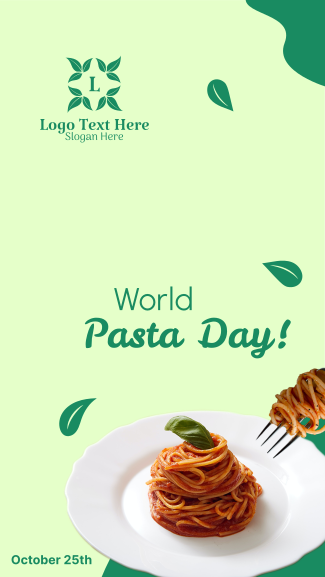 World Pasta Day Greeting Facebook story