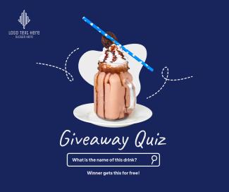 Giveaway Quiz Facebook post
