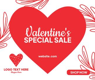 Valentine's Day Sale  Facebook post
