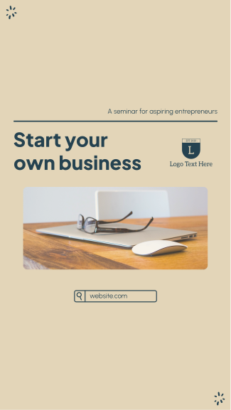Start Your Business Facebook story
