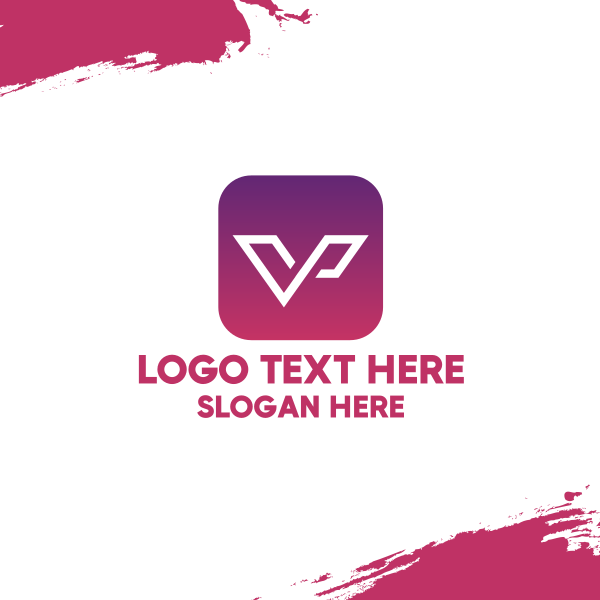 Letter V App Business Card