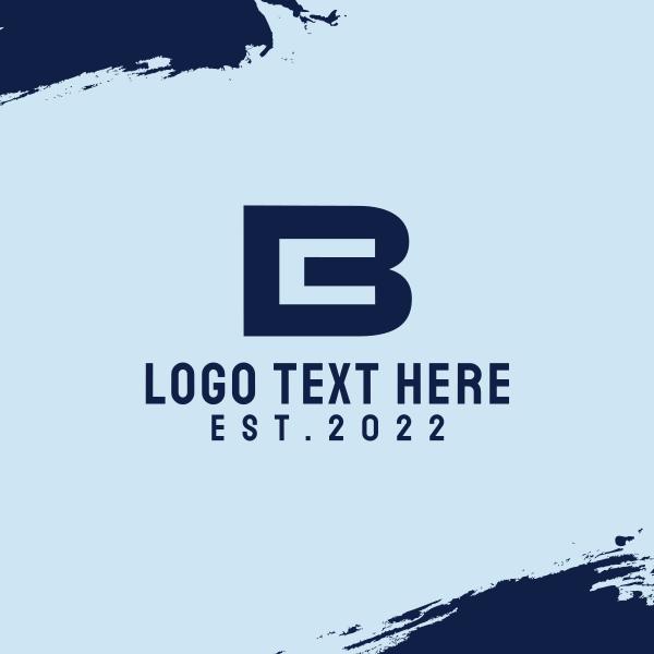 B & C Business Monogram Business Card