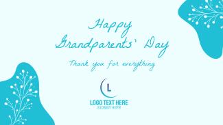 Floral Grandparents Greeting Facebook event cover