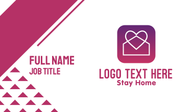 Stay Home App Business Card