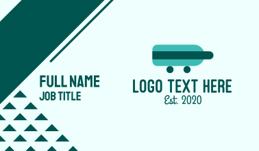 Teal Bottle Delivery Business Card