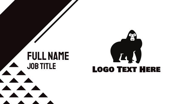 animal shelter - Wild Gorilla Business card horizontal design