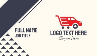 Automobile Shopping Cart Business Card