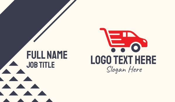 ecommerce - Automobile Shopping Cart Business card horizontal design