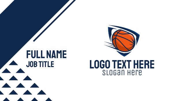 game - Basketball Team Business card horizontal design