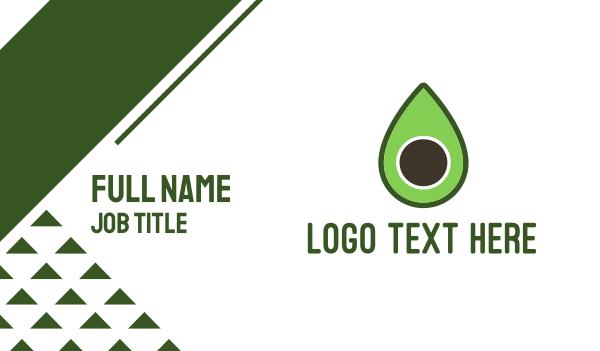avocado - Green Avocado Business card horizontal design
