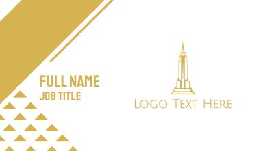 Gold Sharp Tower Business Card