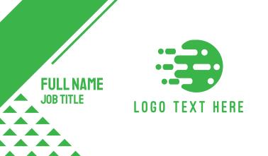 Digital Green Circle Business Card
