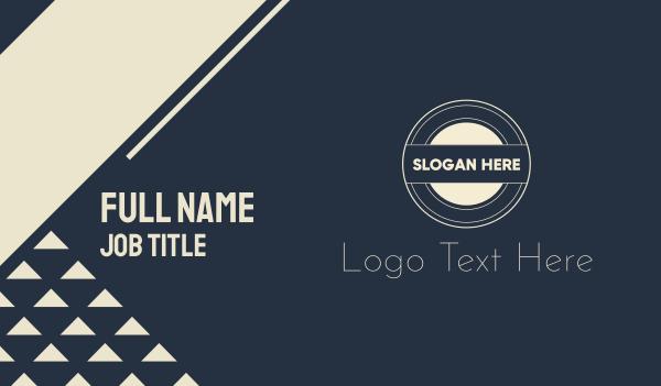 stamp - Retro Round Monogram Business card horizontal design