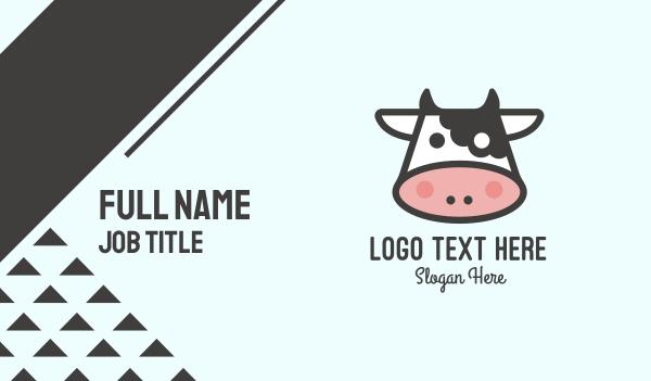 milkshake - Cartoon Cow Business card horizontal design