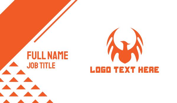 fictional - Orange Dragon Wing Business card horizontal design